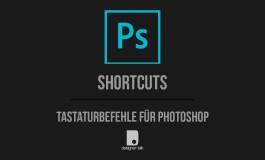 Tastaturbefehle für Photoshop