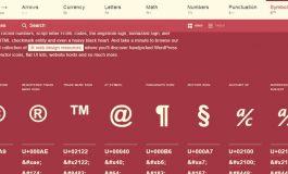 HTML Symbole, Sonderzeichen und mehr...