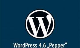 "WordPress 4.6 ""Pepper"""