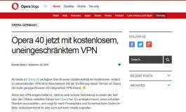 Opera 40 - VPN inklusive