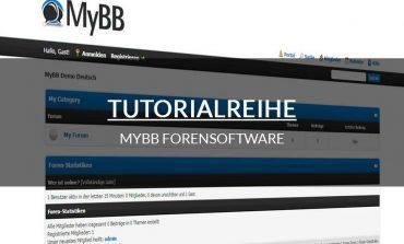 Tutorialreihe - MyBB
